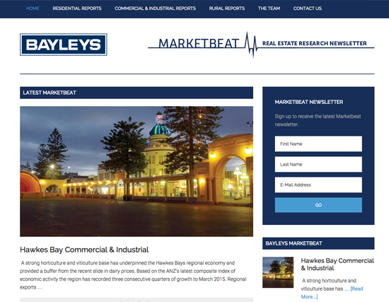 Bayleys Market Beat Website Development
