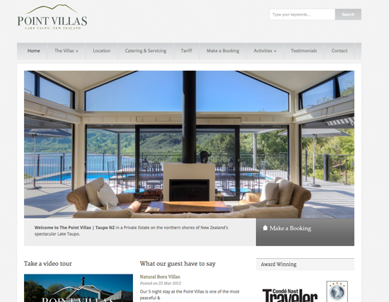 The Point Villas Website Development